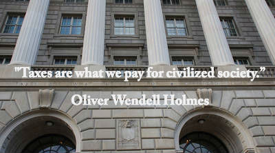 IRS Building - Oliver Wendell Holmes quote